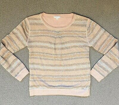 Little Marc Jacobs girls pink sparkly stripey top.Age 10