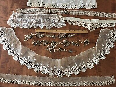 ANTIQUE VINTAGE LACE LOT crafts embellishment trim