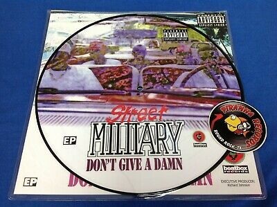 Street Military Don't Give A Damn Rap EP NEW PIC DISC Vinyl 2020 Piranha Records