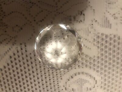 Crystal Diamond Shape CLEAR Paperweight  Glass Gem Gift Home Display Ornament