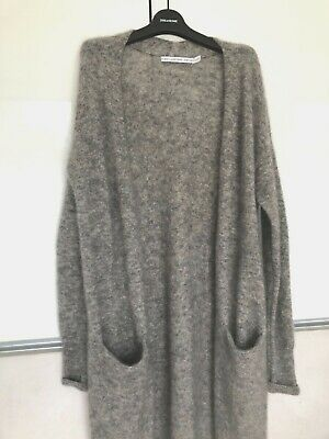 OTHER STORIES cardigan NEW veste gilet MOHAIR gris GREY 38 40 UK 8 10 POCHES
