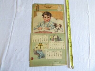 Vintage 1937 Calendar The Commonwealth Company Lot 20-29-6