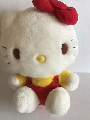 """Hello kitty plush vintage? cute stuffed animal small red bow 8"""""""