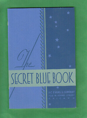 Gambling SECRET BLUE BOOK by H. C. EVENS, Chicago 41 year old, reproduction