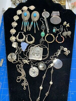 Sterling Silver Jewelry Lot Craft And Wear Over 119 Grams