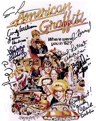 American Graffiti signed 8x10 rp photo picture poster autograph