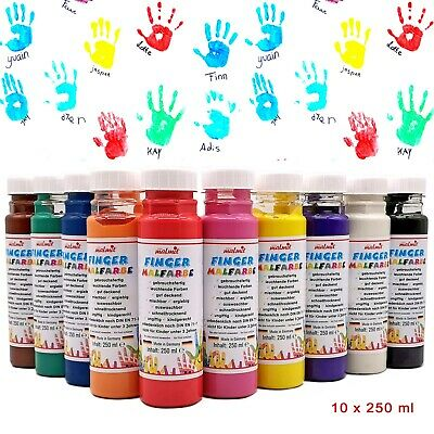Fingermalfarbe 10er Set je 250 ml