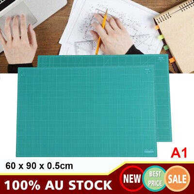 A1 60x90cm Thick 5-Ply Self Healing Craft Cutting Mat 2-Side Print Quilting NEW