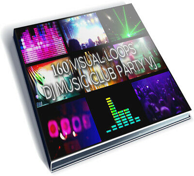 160 Video Footages Pack - Visual Loops Clip Dj Music Club Party Vj Premier Edius