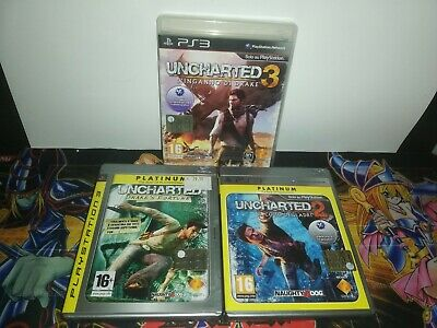 Uncharted PS3 Serie Completa 1-2-3 Lotto
