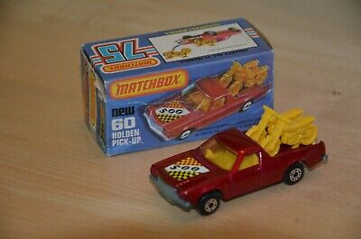 Matchbox Superfast Nr. 60 Holden Pick Up, dunkelrot + Box, 70er Jahre, mint