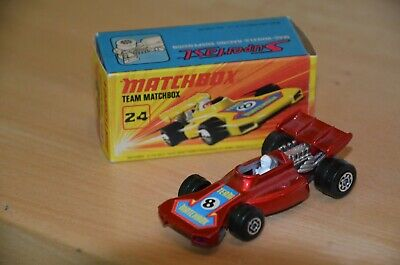 Matchbox Superfast Nr. 24 Team Matchbox, rot + Box, 70er Jahre, mint