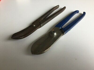 Straight and curved tin snips