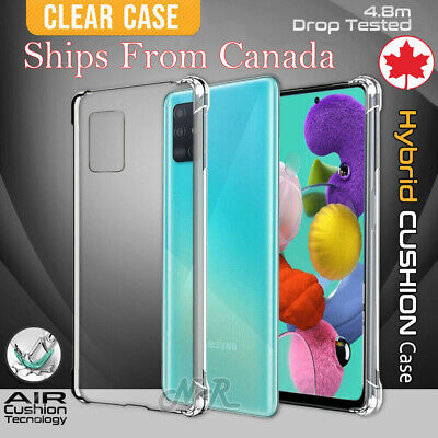 CLEAR Case For Samsung Galaxy A51 A71 A10e A70 A50 Silicone Gel Shockproof Cover