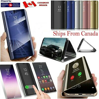 CLEAR Smart Mirror View Flip Case For Samsung Galaxy S9 S8 Plus Shockproof Cover