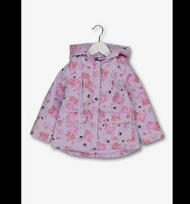Girls Pink Peppa Pig Fleece Lined Raincoat 18Mths To 4Years Bnwt Free P&P