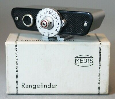 MEDIS RANGEFINDER attachment mounts on hot or accessory shoe BOX GERMAN Accurate