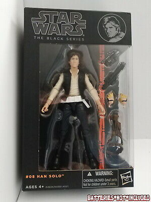 "Star Wars The Black Series Han Solo 6"" Action Figure #08 Orange Line 2013 (NEW)"