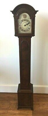 Rare Miniature Mahogany Grandfather Clock. Royal Navy HMS Loch Glendhu Links WW2