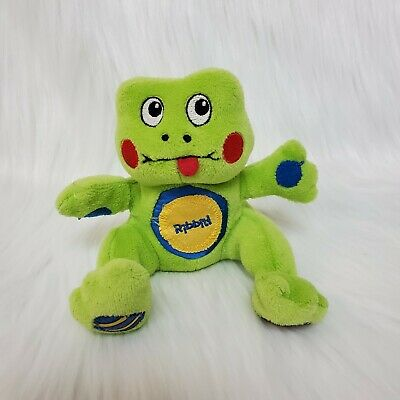 """5"""" The First Years Ribbit Frog w Sound Green Plush Baby Lovey Stuffed Toy B81"""