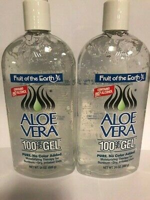 Fruit of the Earth New Aloe Vera 100% Pure Gel 24 oz. / 680g (Pack of 2)