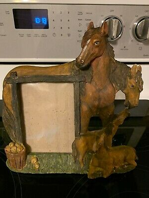 Heavy Resin Horse Picture Frame