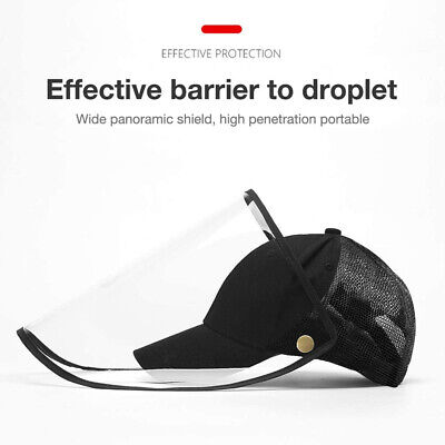 Full Face Hat With Shield Protective Cover Saliva-proof Dust-proof Visor Cap