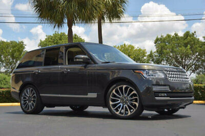 """2014 Land Rover Range Rover 4WD 4dr SC Autobiography '14 Range Rover Autobiography Pkg, 22"""" Wheels,Wood & Leather Steering,Blk Roof."""
