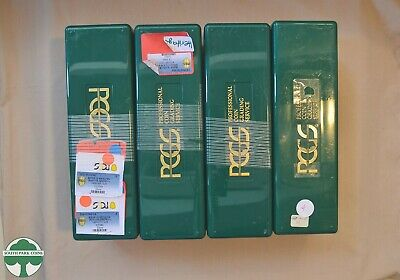 Set of 4 Used Green PCGS Slab Storage Boxes - Each Box holds 20 Slabbed Coins