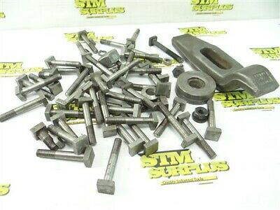 """Lot Of Assorted Hold Downs 3/8"""" T Bolts + Vulcan No.78 Clamp"""