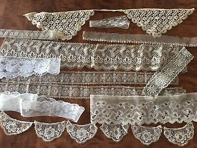 ANTIQUE / VINTAGE LACE LOT Trim Edging Crafts Embellishment