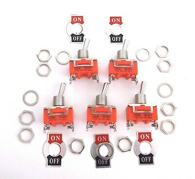 5 BBT Brand  Marine Grade On/Off 15 amp Heavy Duty Toggle Switches