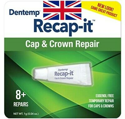 Dentemp Recapit - Dental Cement / Repairs Caps & Crowns / Ready To Use