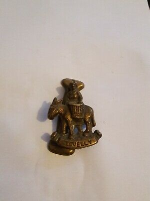 Antique/Vintage Collectable Brass Door Knocker  Clovelly  woman & Donkey