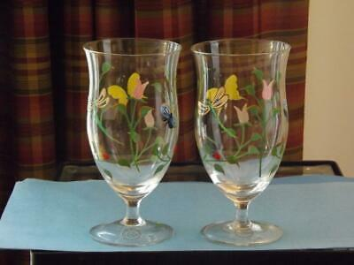 2 NWT Lenox Butterfly Meadow Ice Tea Glasses Goblets