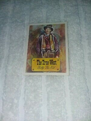 Billy The Kid True West Trading Card Cowboys Indian - Very Rare