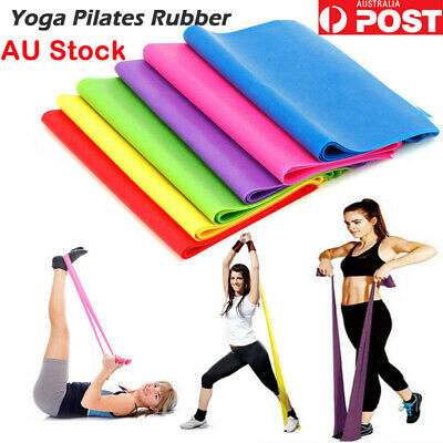 1.5m Elastic Yoga Stretch Resistance Bands Exercise Fitness Band Theraband GYM