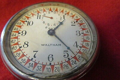 Waltham 8 Day 1926 Telephone Long Distance Calls Timer----RUNS