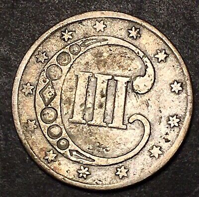 1852 3 Cent Silver 3c Obsolete Filler Type Coin Trime Three Cents Rare