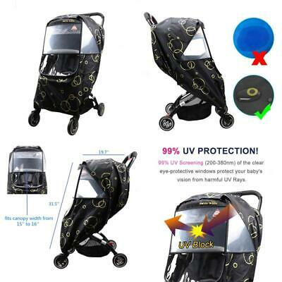 Wonder Buggy Universal Stroller Weather Shield Rain Cover With Bubble,Waterproof