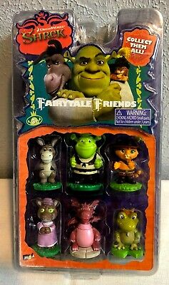 Dream Works Shrek Fairytale Friends 6 Figures Donkey Brand New Factory Sealed
