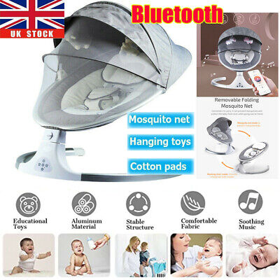 Bluetooth Electric Rocker Baby Swing Infant Portable Cradle Bouncer Seat Chair