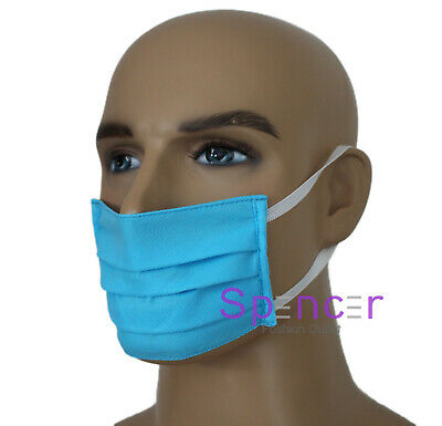 1 X Reusable/ washable Facemask Face Cover Blue HAND MADE Unisex