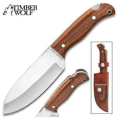 "9"" Timber Wolf Bushcraft Camping All-Terrain Fixed Blade Knife Full Tang Hunting"