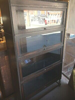 Vintage dark wood Wernicke style bookcase (pick up/collection only)