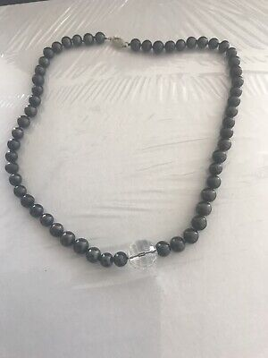 """Simulated Black Pearl Necklace 15"""""""