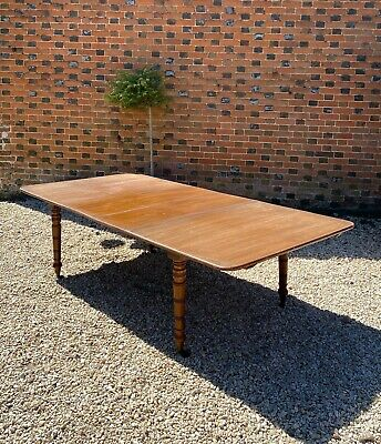 Antique 19Th Century Victorian 8Ft Large Mahogany Extending Dining Table