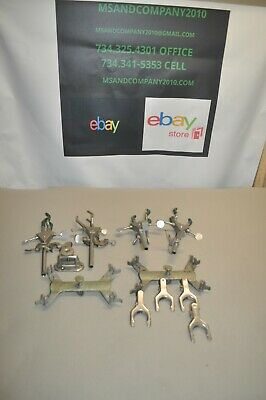 Lot Of Lab Glass Beaker Flask Clamps Holders Stands Free Shipping