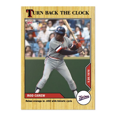 2020 MLB TOPPS NOW Turn Back The Clock Rod Carew Card 51