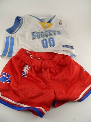 Build-A-Bear Babw Clothes Sports Nba Basketball Jersey Denver Nuggets Outfit